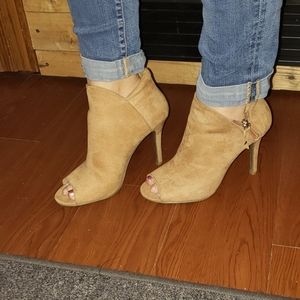 Charming Charlie peep toe booties